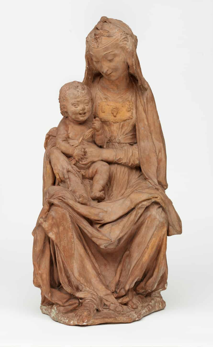 Full sculpture of The Virgin and the Laughing Child