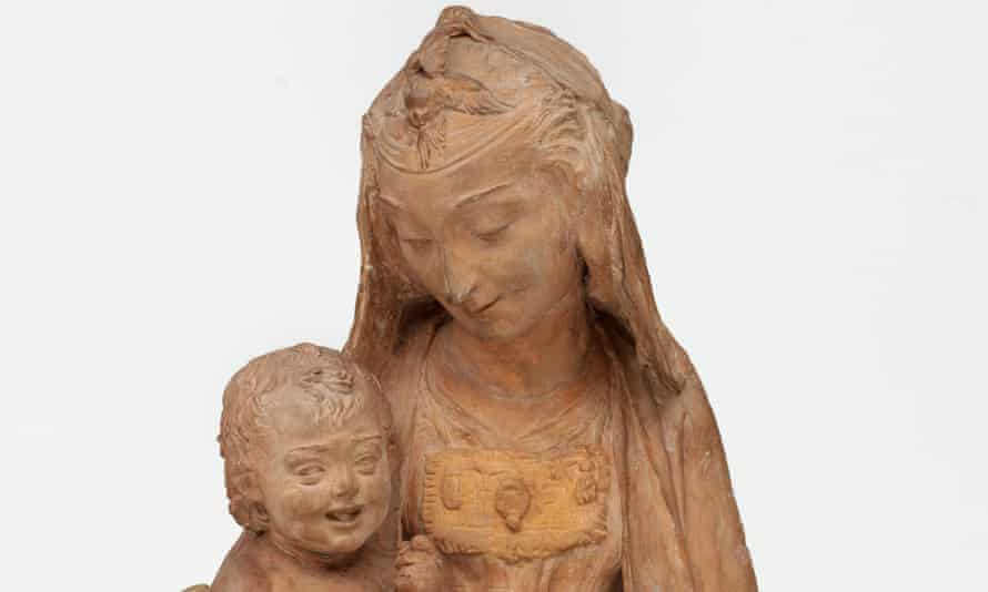 The Virgin with the Laughing Child sculpture