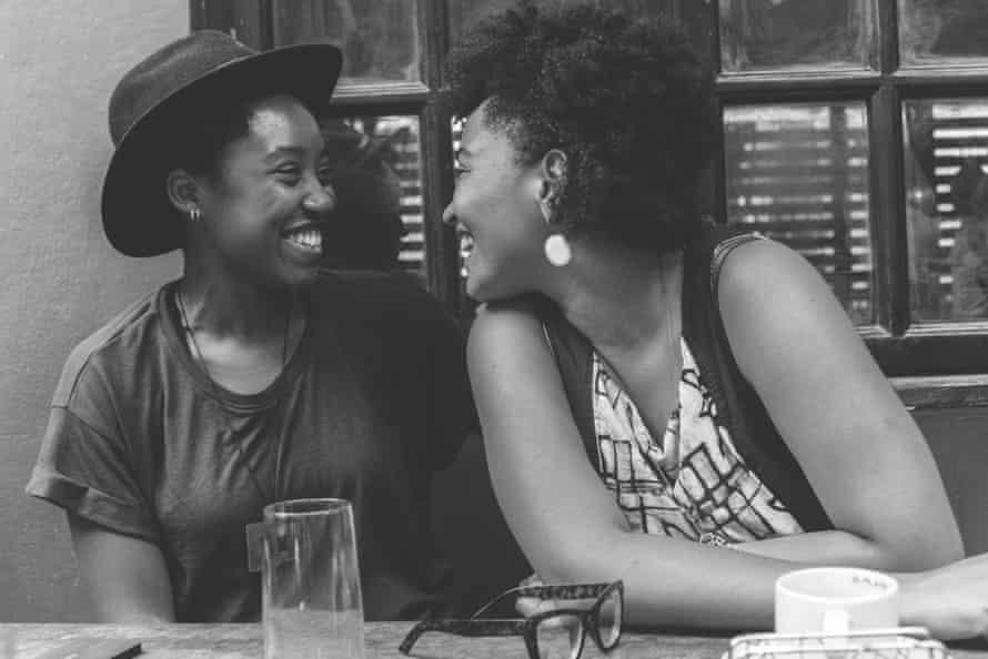 Ama and Shana at lunch by Eric Gyamfi, 2016