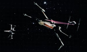 "Star Wars (1977) The iconic image of a Rebel X-wing fighter under attack from an Imperial TIE fighter. George Lucas: ""I always see images flash into my head, and I just have to make those scenes. I have an overwhelming drive to get that great shot of two spaceships, one firing at the other, as they drive through the space fortress. That image is in my head, and I won't rest until I see it on the screen."""