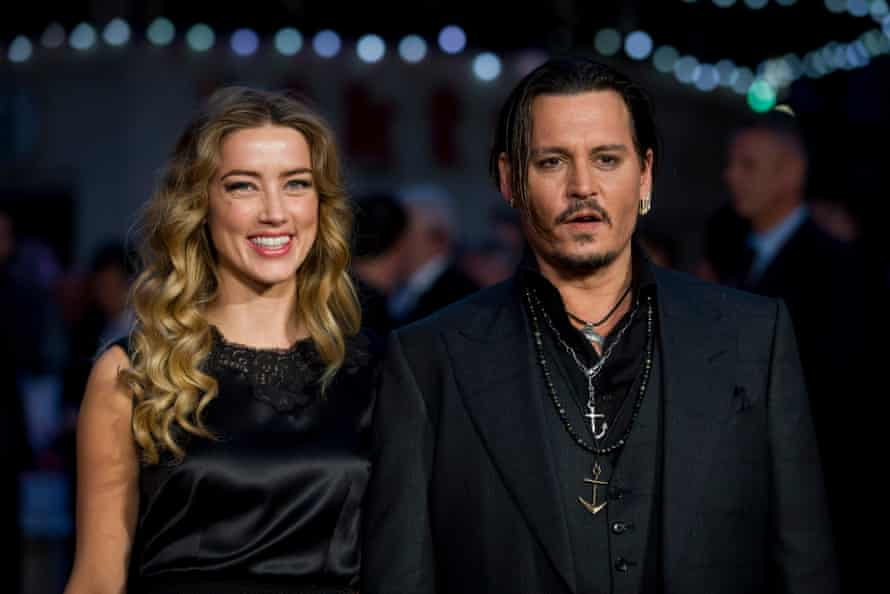Depp with Amber Heard in 2015.
