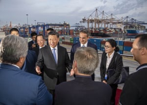Xi Jinping visits the Greek port of Piraeus earlier this month