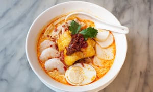'A bash of chilli and stock and coconut': laksa.