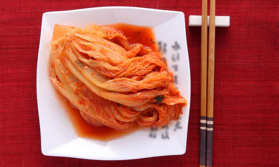 Fizzically fit ... a plate of kimchi.
