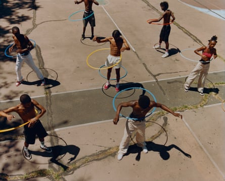 Untitled (Group Hula Hoop), 2019. © Tyler Mitchell