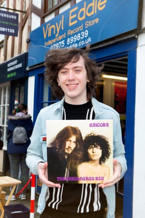 """John Gibson,24 bought T.Rex 'Unicorn'. He also bought David Bowie, Biffy Clyro and Tom Grennan. """"I have a big love for T.Rex, my dad got me listening to them and I've not stopped since"""""""