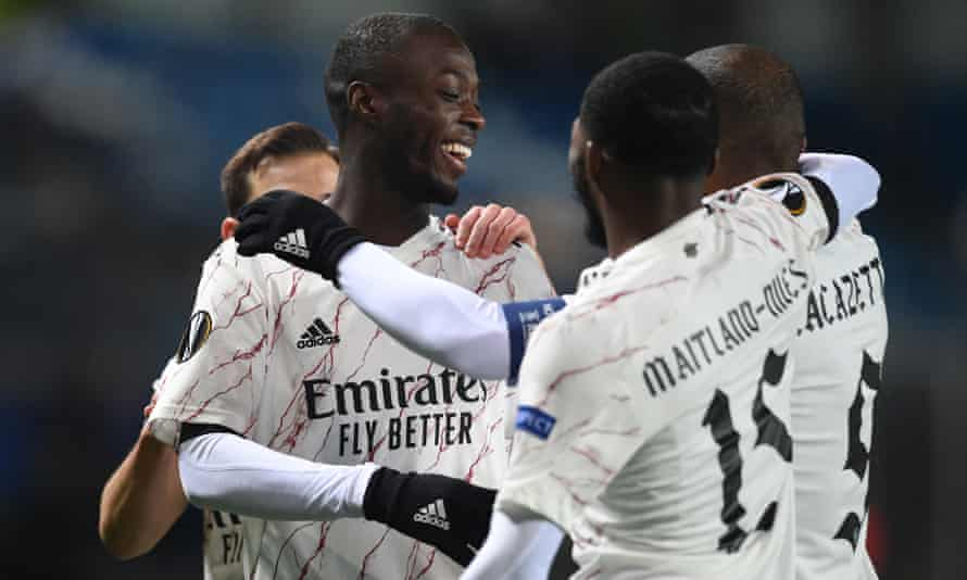 Nicolas Pépé impressed against Molde, scoring Arsenal's opener, but he has struggled in the league and was sent off at Leeds last Sunday.