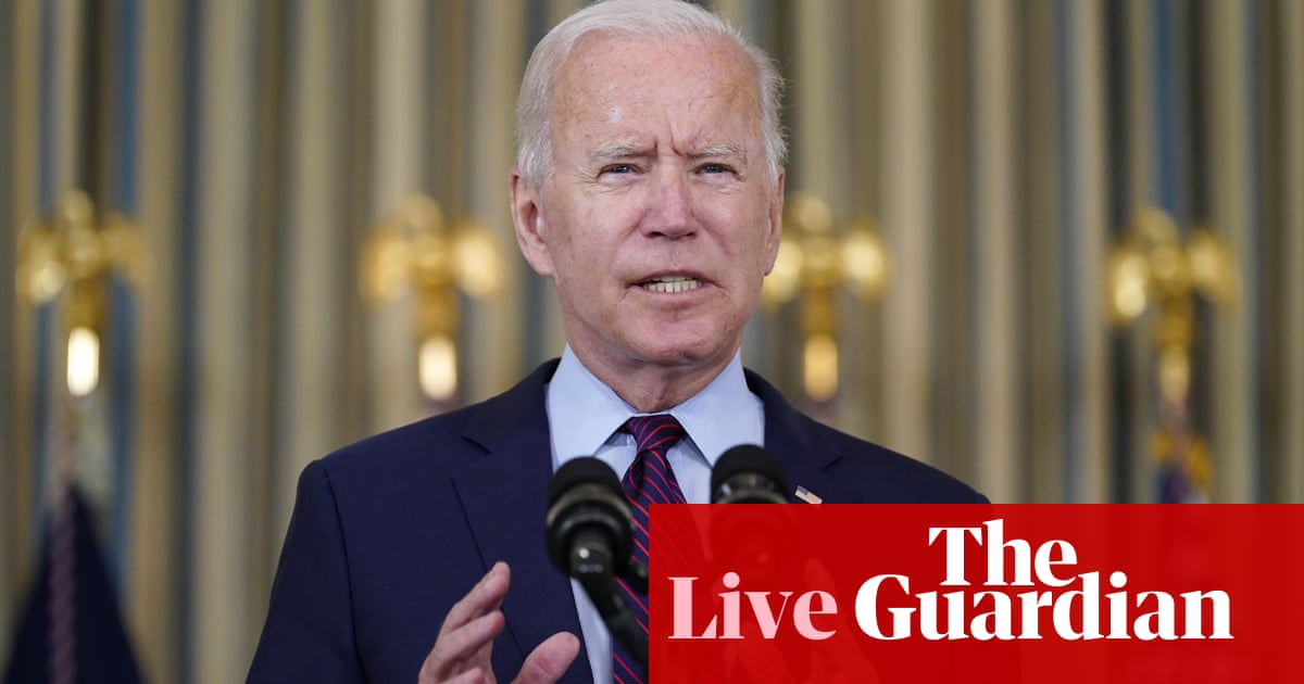 Biden says debt limit must be raised because of 'reckless' policies under Trump – live