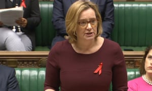 Amber Rudd in the Commons.