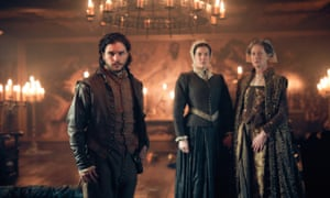 Kit Harington, Liv Tyler and Sian Webber in Gunpowder.