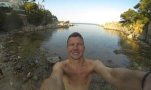 Jonathan Cowie swimming on the Costa Brava