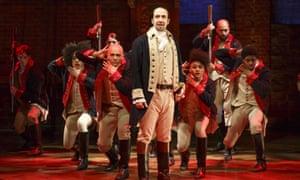 Lin-Manuel Miranda performs in the original Broadway production of Hamilton in New York.