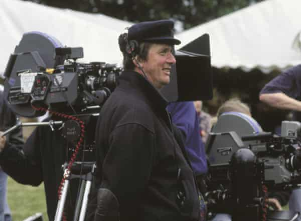 Mike Newell on set.
