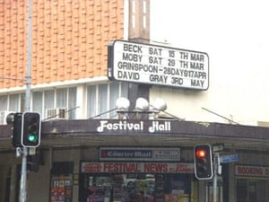 One of the last marquee bills on Festival Hall before its closure and subsequent demolition,August 2003