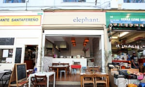 restaurant and shop fronts in brixton