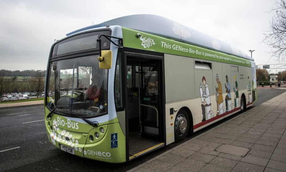 Bristol's Bio Bus runs on faeces and household waste.