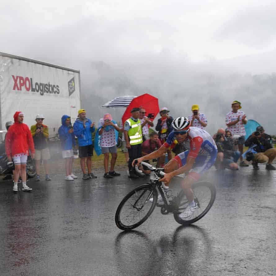 Thibaut Pinot of Team Groupama-FDJ on stage 15.