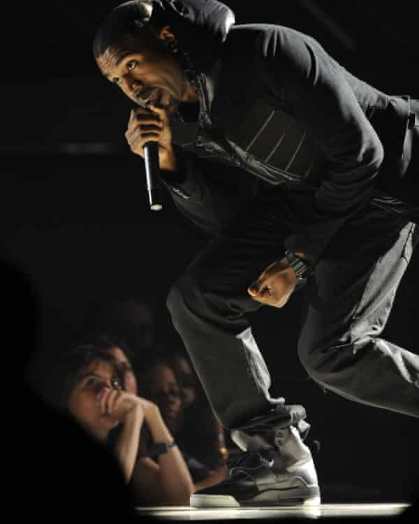 Kanye West at the Grammy Awards in Los Angeles, 2008.