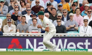 Australia's Peter Siddle drops a catch from Joe Root.