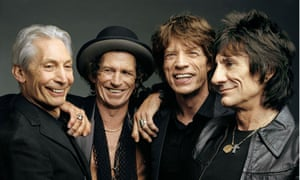 Bluesmen ... Charlie Watts, Keith Richards, Mick Jagger and Ronnie Wood