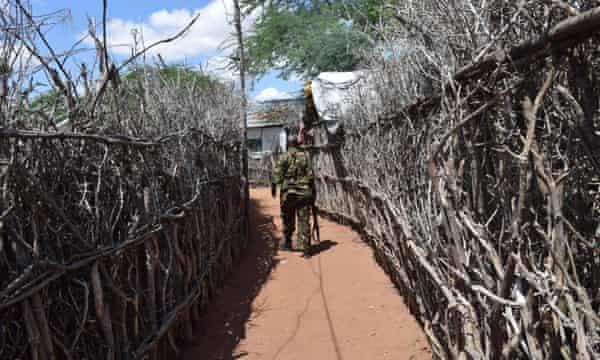 Refugee compound in Dadaab