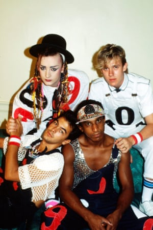 Culture Club in Washington DC in 1983 ... (clockwise from top left) Boy George, Roy Hay, Mikey Craig and Jon Moss.