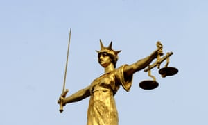 Statue of 'Lady Justice' on top of the Old Bailey