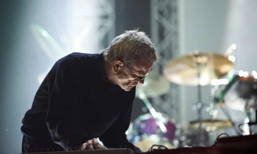 Dieter Moebius … Performing in 2010.