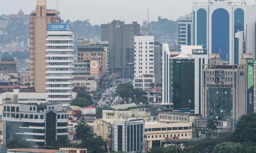 A general view of the city of Kampala, Uganda