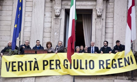 Protesters in Milan demand the 'truth about Giulio Regeni'  in March 2016