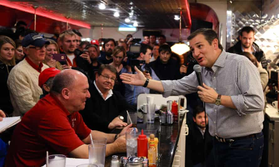 Ted Cruz<br>FILE - In this Jan 4, 2016 file photo, Republican Presidential candidate, Sen. Ted Cruz, R-Texas, campaigns at Penny's Diner in Missouri Valley, Iowa. Tea party flame-thrower Ted Cruz is showing voters his softer side during his presidential campaign in Iowa, whether through his joke-laced stump speech or one-on-one interactions. (AP Photo/Nati Harnik, File)
