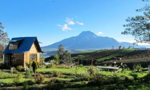 A view of Imbabura volcano from Rose Cottage.