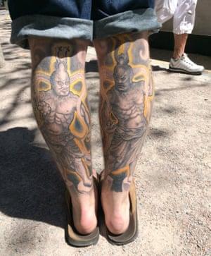 Rory's tattooed calves