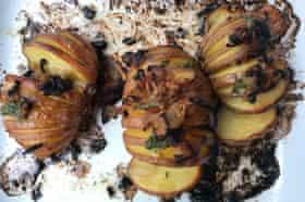 Martha Stewart's hasselback potatoes.