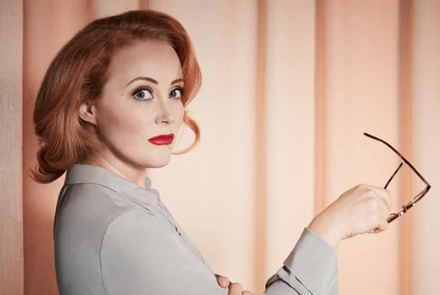 Emma Jane Unsworth made up to look like Bette Davis
