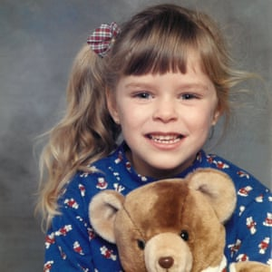 Kath as a child; 25 years on, she confronts the brother who raped her.