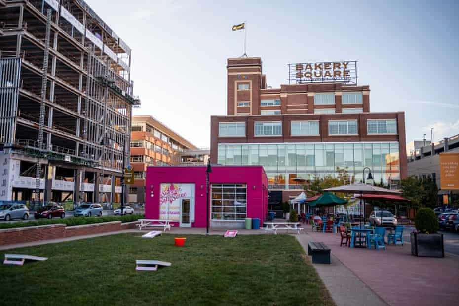 The Google office in Bakery Square which used to be a Nabisco factory.