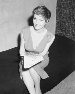 Annie Ross learning her lines for Cranks, a West End musical revue, in 1956.