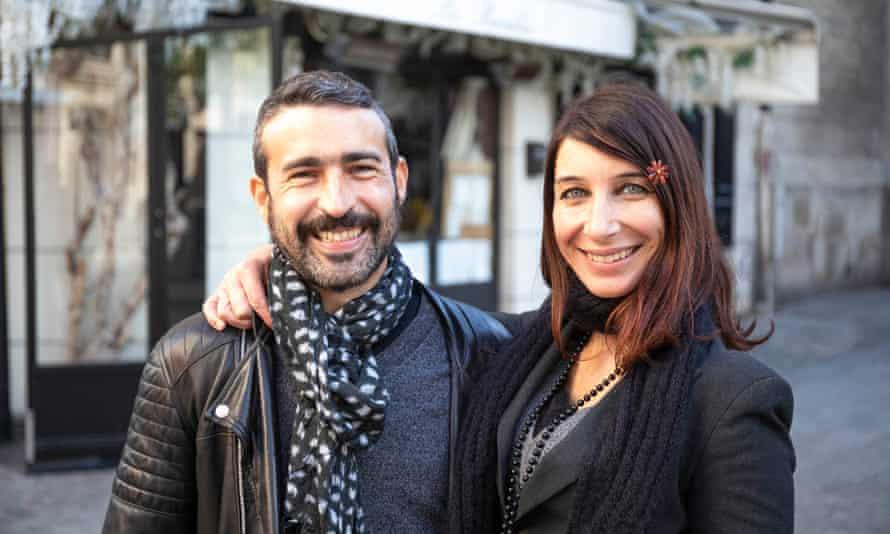 Christine Delcros and Sebastien Besatti