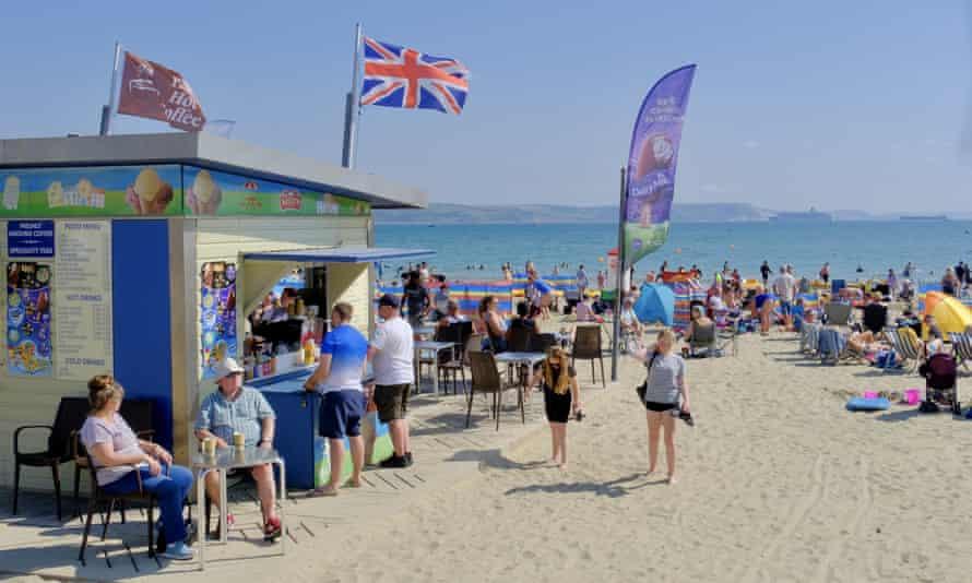 Visitors at Weymouth beach