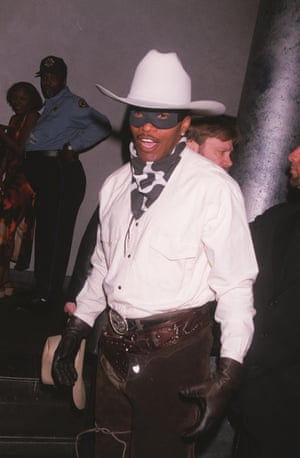 2000 Jamie Foxx as a masked cowboy
