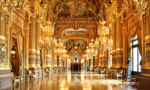 The grand foyer of the Opera Garnier, Paris.
