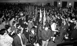 An Ulster Resistance Rally in Ballymena in 1986.