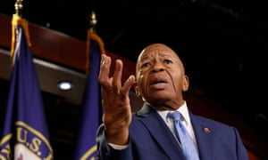 Elijah Cummings speaking at a press conference in Washington in July this year.