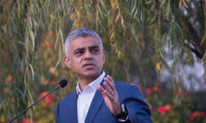 Sadiq Khan speaks at a business reception in the grounds of the British High Commission in Islamabad during a visit to Pakistan.