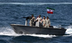 An Iranian boat on patrol earlier this year.
