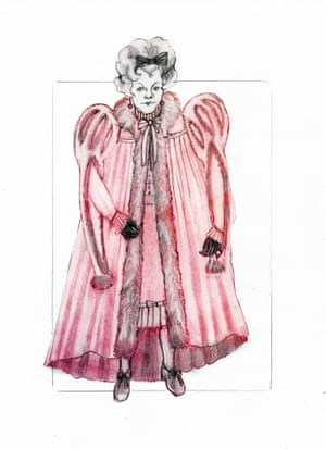 Costume design for Dolores Umbridge of the Ministry of Magic