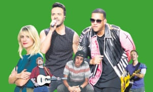 In the stream ... (from left) Mélanie Laurent; Ed Sheeran; Luis Fonsi; Danny Ocean; Daddy Yankee; Chris Martin.