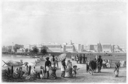 'View of Calcutta from the Esplanade', c1860, during the period of East India Company rule. Illustration from The History of the Indian Mutiny, by Charles Ball, Volume II, The London Printing & Publishing Co.