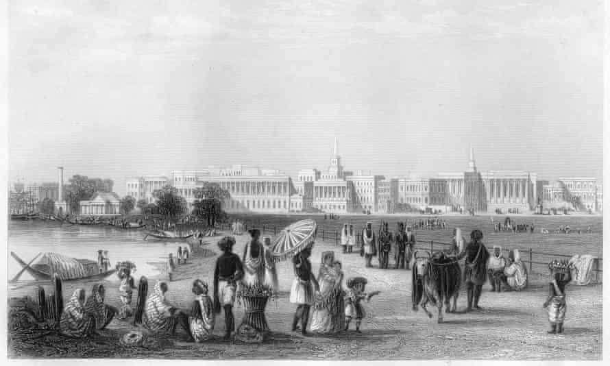 View of Calcutta from the Esplanade, c1860.